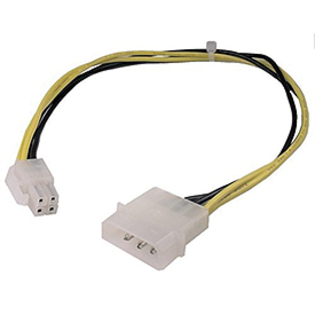 Cable adapter 4 pin ATX +12 volt power cable