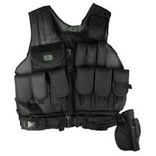 GEN-X Tactical Vest Black (Pods Not Included)