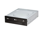 LG SATA 22X DVD-RW Drive, Black, Internal, Bulk