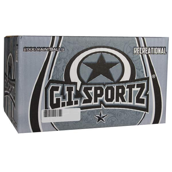 GI Sportz Recreational Paintballs 2000 Rounds