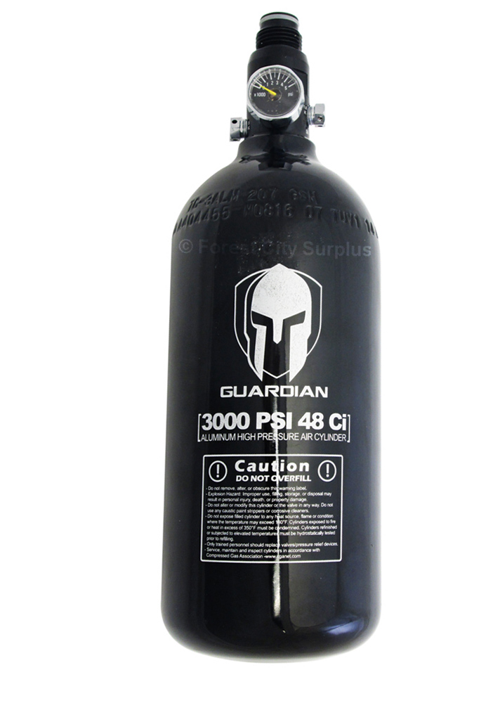 48 CU IN 3000 PSI Paintball Air Tank Guardian